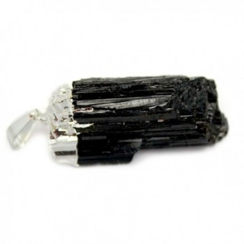 1 (ONE) Black Tourmaline Pendant - Silver Plated - Rp Exclusive COA AM8B10-06 - C81203ISVQZ