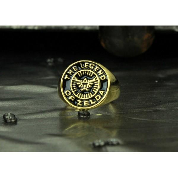 The Legend Of Zelda Triforce Gold Logo Ring Band NEW - Nintendo R3 - C011HVV2MVD