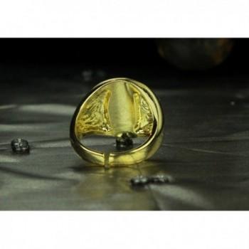 Legend Zelda Triforce Gold Logo in Women's Band Rings