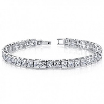 White CZ Tennis Bracelet Sterling Silver Channel Set - C7111PM81E1