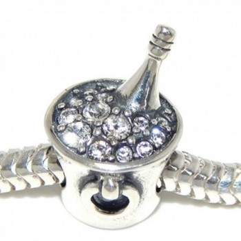 Sterling Silver Champagne Zirconia Bracelets - C7182S5Z220