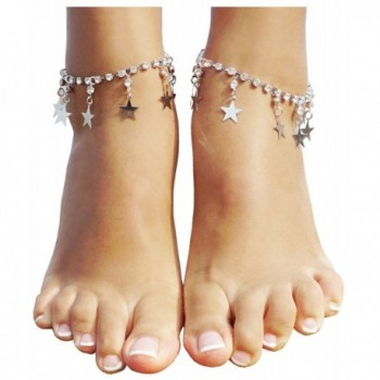 Bienvenu 2PCS Barefoot Sandal Beachwear Wedding Foot Jewelry Chain Anklet Bracelet - Silver_Style 2 - CH184X959RA