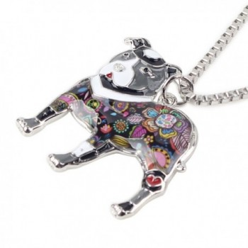 Bonsny Enamel Necklace Jewelry pendant