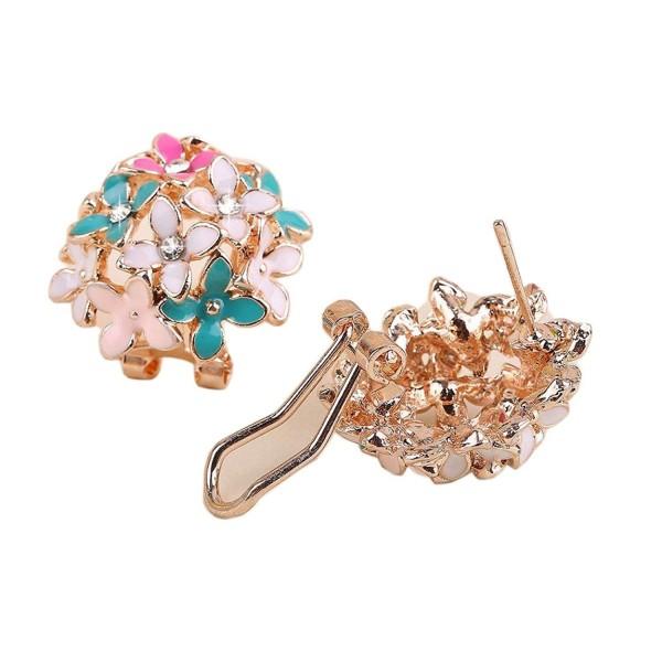 Susenstone Fashion Elegant Crystal Rhinestone Ear Stud Earrings - C812DDLU4NR