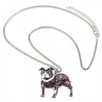 Bonsny Enamel Necklace Jewelry pendant in Women's Chain Necklaces