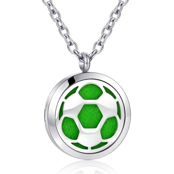 Football Aromatherapy Essential Diffuser Stainless - football pattern oil necklace - CA18289Q6IN