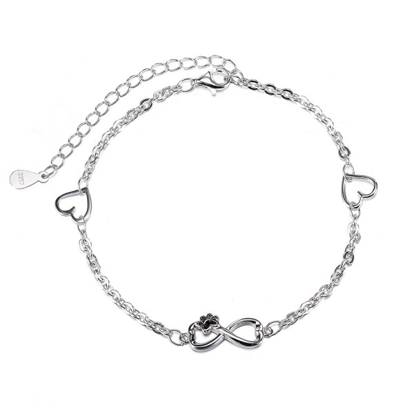 Infinity Symbol Of Love Sterling Silver 925 Handmade Bracelet❤