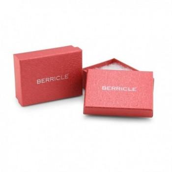 BERRICLE Rhodium Triangle Statement Earrings in Women's Drop & Dangle Earrings