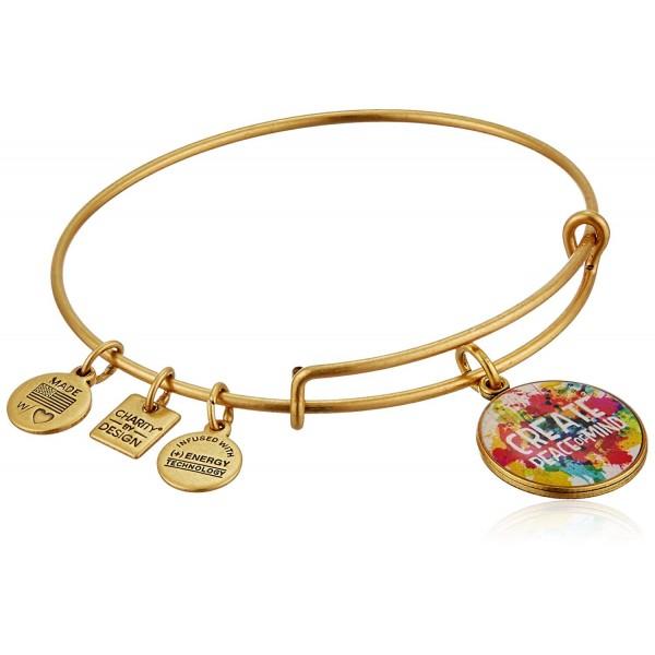 Alex and Ani Charity By Design Peace of Mind Bangle Bracelet - Rafaelian Gold - CP11JV40NIR