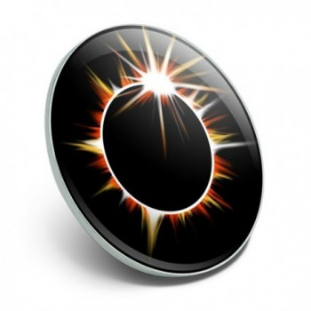 Total Solar Eclipse Painted Pinback