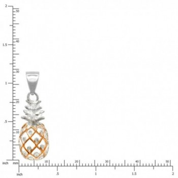 Sterling Silver Pineapple Necklace Pendant