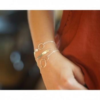 Sterling Silver Bracelet Infinity Interlocking