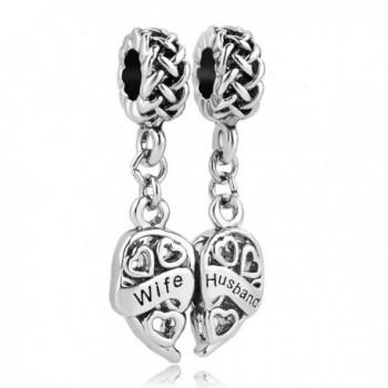 LovelyJewelry Wife & Husband Charms Two Piece Love Family Celtic Knot Dangle For Bracelets - CF12CEHE01X