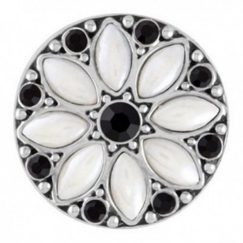 Ginger Snaps LUNA - WHITE/BLACK SN08-14 Interchangeable Jewelry Snap Accessory - CI1223FPSFX