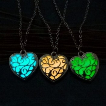 Vintage Luminous Necklace Hollow Pendant