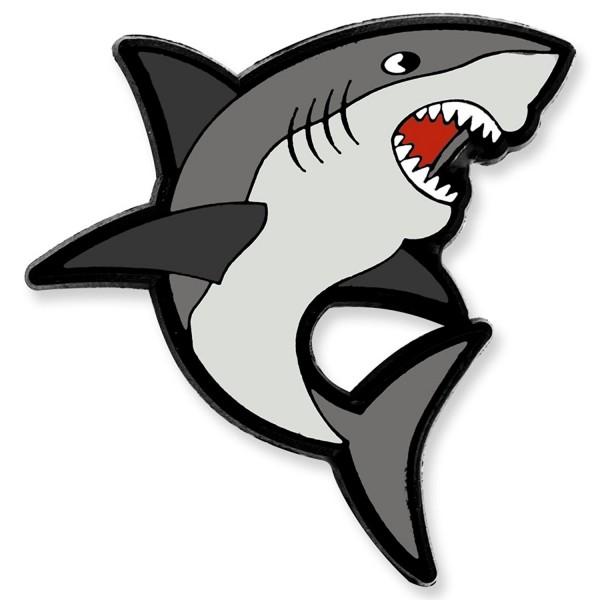 PinMart's Shark Ocean Animal Enamel Lapel Pin - C212NTID5AF