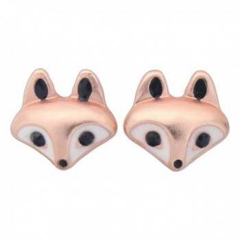 World End Imports Cute Little Fox Head Stud Post Earrings - CA12HG27XAF