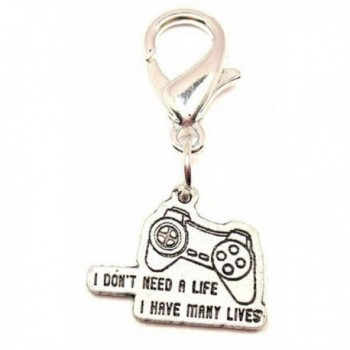 I Don't Need A Life I Have Many Lives Video Game Remote Controller Pewter Zipper Pull - CP11IWJM1P5