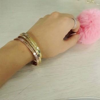 MANZHEN Plating Opened Bracelets STRONG in Women's Bangle Bracelets
