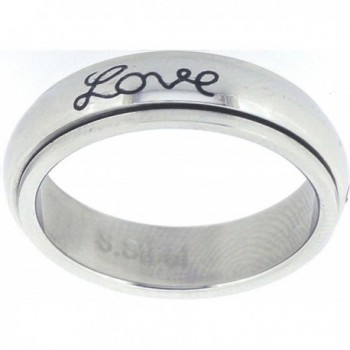 "STAINLESS STEEL ""Faith- Hope- Love"" CHRISTIAN BIBLE VERSE SPIN RING STYLE 321 - CH115Q0TD13"
