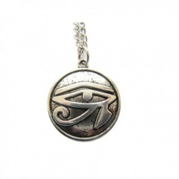 Ancient Silver Egyptian Necklace- Eye of Horus- Egyptian Jewelry- Hieroglyph Charm Pendant - CY128FM9R1J