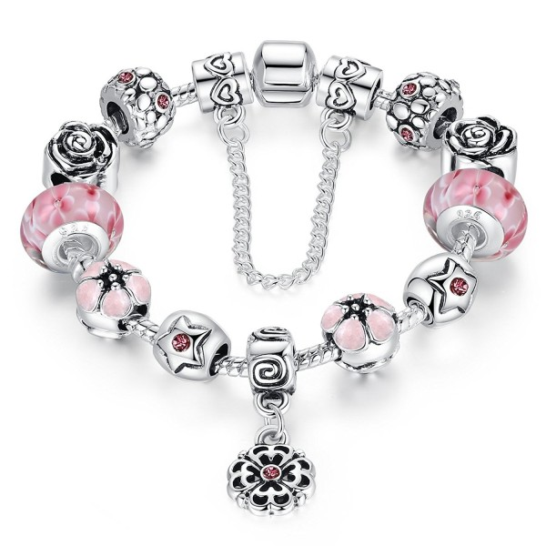 Presentski Charm Bangle Bracelet Silver Plated with Colorful Cubic Zirconia for Women - C412LEE6HFJ
