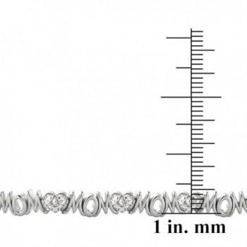 Silver Simulated Diamond Accent Bracelet in Women's Tennis Bracelets