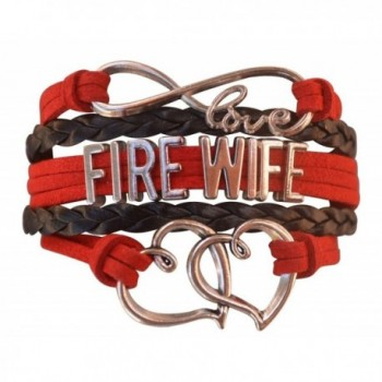 Firefighters Wife Gift- Fire Wife Bracelet- Proud Firefighters Wife Charm Bracelet - Makes Perfect Wife Gifts - CX12M1E8CPT