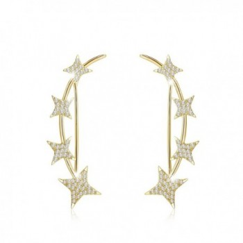 Mevecco Crawler Climber Earrings Jewelry Star Gold - Gold - CW185SE9QY9