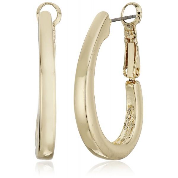 Napier Gold-Tone Large Oval Hoop Earrings - CM11E4061VL