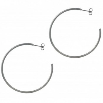 "Stainless Steel 2"" Hoop Earrings for Women - CR11Q81L8IF"