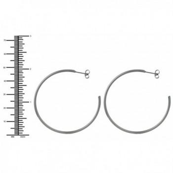 Stainless Steel Hoop Earrings Women