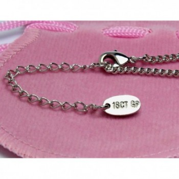 Name Necklace Kristy White Plated in Women's Chain Necklaces