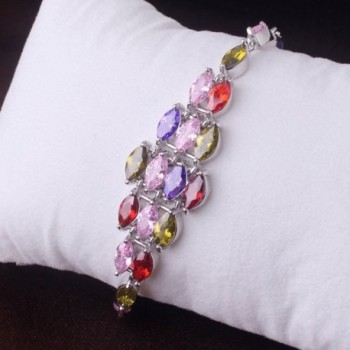 GULICX Zirconia Bracelet Jewellery Colorful in Women's Strand Bracelets