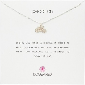 """Dogeared Pedal on Bike Reminder 16"""" Boxed Necklace - CP11PXYUGLN"""