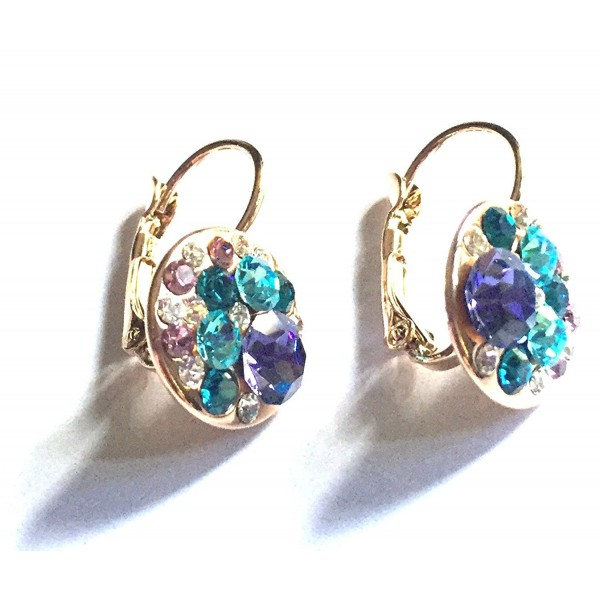 UPSERA Bright Diamond Leverback Earrings - Tanzanite - CN12CX724PN