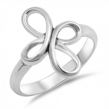 Swirl Infinity Cross Knot Thumb Ring New .925 Sterling Silver Band Sizes 4-10 - C1187YN80K6