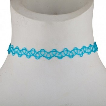 Lux Accessories Elastic Necklace Colored