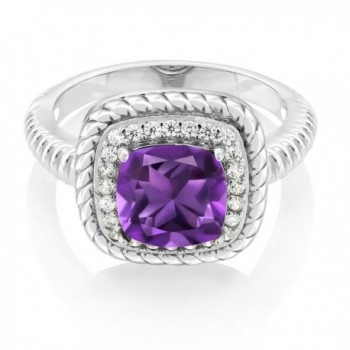 Cushion Amethyst Sterling Engagement Available