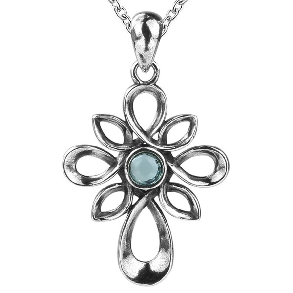 925 Sterling Silver Charm Celtic with Vintage Simple Cross Necklace Pendant Gifts Jewelry for Women - CC187NXZCE3