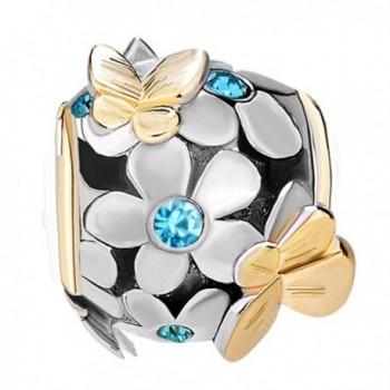 JewelryHouse Butterfly Imitation Birthday Bracelet in Women's Charms & Charm Bracelets
