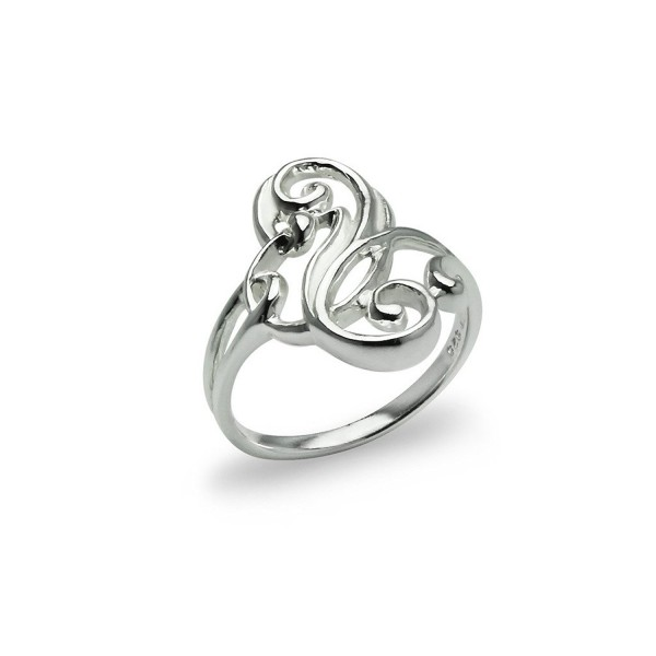 Filigree Stackable Wrap Fashion Ring - Sterling Silver Sizes 5 to 13 Polished Fine Jewelry Women - CK12MSAGU2R