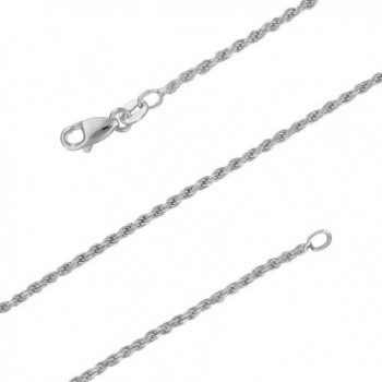 Sterling Silver 1.5mm Diamond-Cut Rope Chain Necklace Solid Italian Nickel-Free- 14-30 Inch - C017YKIQ8C4