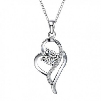 ANNN Silver plated necklace with a brilliant shine pendant necklaces jewelry for women - C512F6IX03V