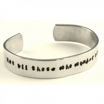 Not all those who wander are lost - Hand stamped 1/2-Inch bracelet - The Hobbit - J.R.R. Tolkien - CR11JZ3E11T