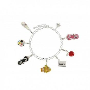 Poulettes Jewels Charms Bracelet Sterling