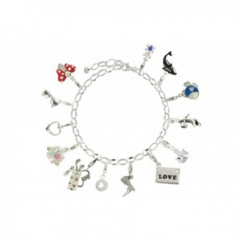 Poulettes Jewels Charms Bracelet Sterling in Women's Charms & Charm Bracelets