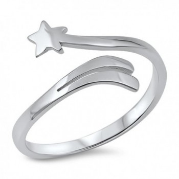 Open Shooting Star Cute Wholesale Ring New .925 Sterling Silver Band Sizes 4-10 - CF12MX1J2PJ