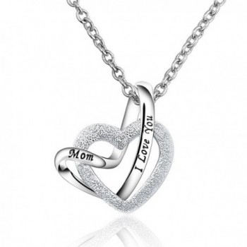 DemiJewelry Mothers Day Mom Pendant Sterling Silver A Lifetime Loving You Interlocking Necklace 18inch Chain - CE17Z3OLS84