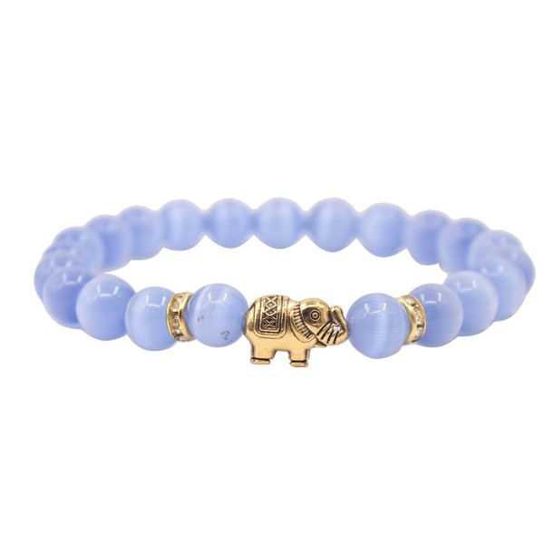 KSQS Lover Couple Bracelet Yoga Balancing Reiki Healing with Elephant for Christmas Thanksgiving - Lavender - CJ187KI3T7W